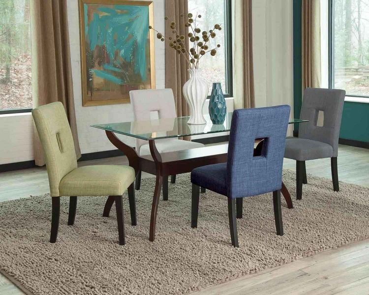 Andenne Rectangular Glass Dining Set -