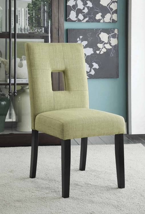 Andenne Dining Chair - Green/Black