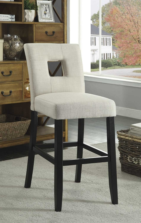 Andenne Counter Height Chair - Beige/Black