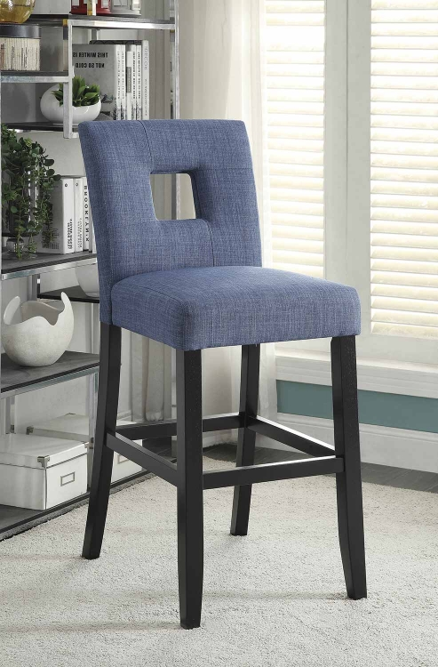 Andenne Counter Height Chair - Blue/Black