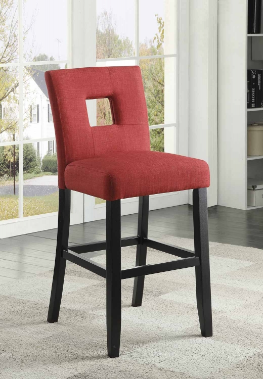 Andenne Counter Height Chair - Red/Black