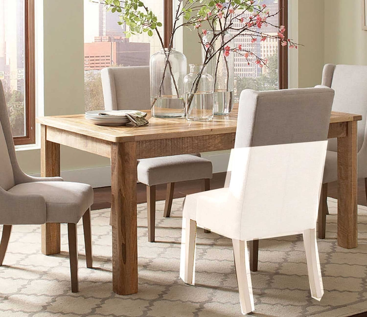 Solomon Rectangular Dining Table - Natural Mango