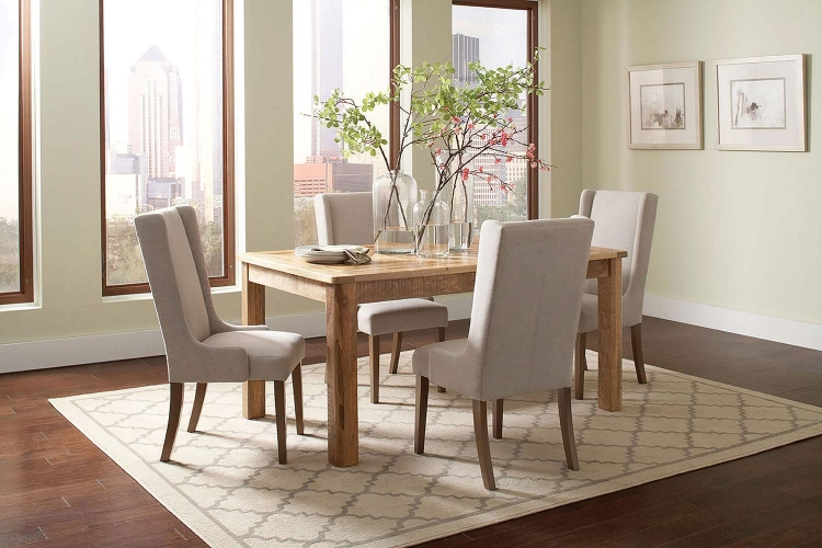 Solomon Rectangular Dining Set - Natural Mango