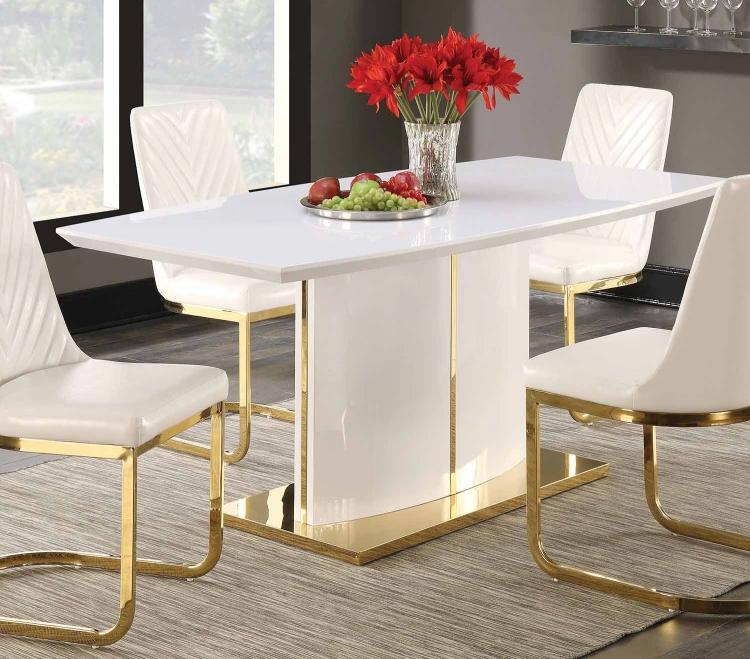 Cornelia Dining Table - High Gloss White
