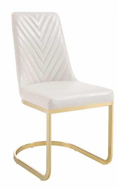 Cornelia Side Chair - White Leatherette