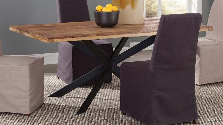 Galloway Rectangular Dining Table - Natural