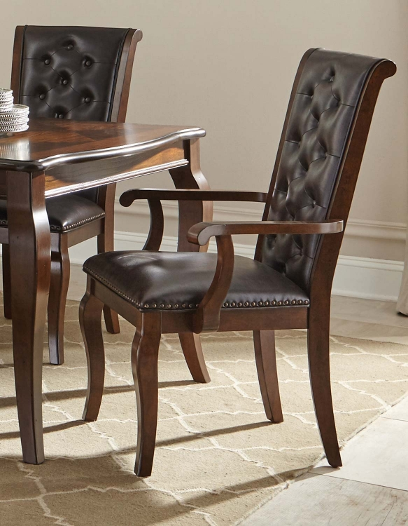 Williamsburg Dining Arm Chair - Roasted Chestnut