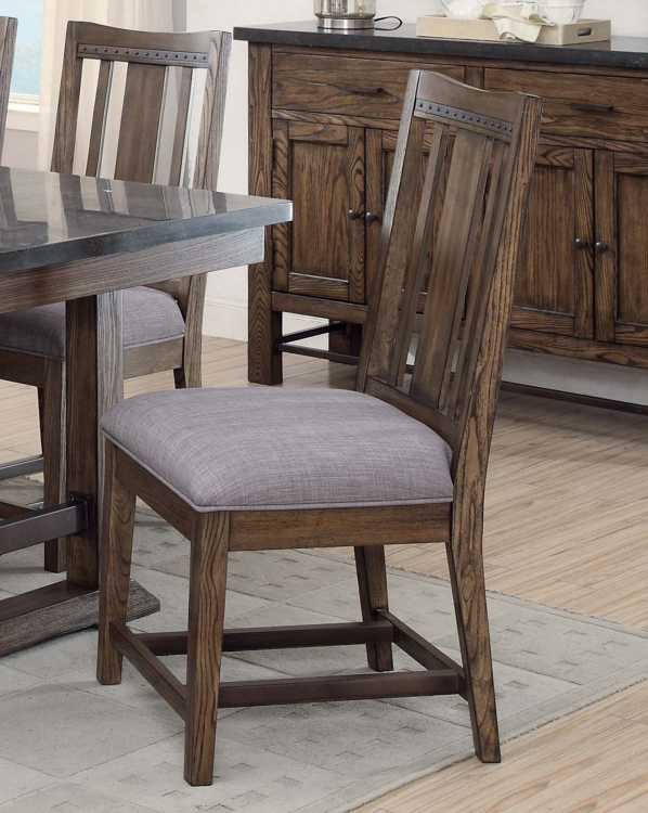 Willowbrook Dining Side Chair - Rustic Ash/Gunmetal