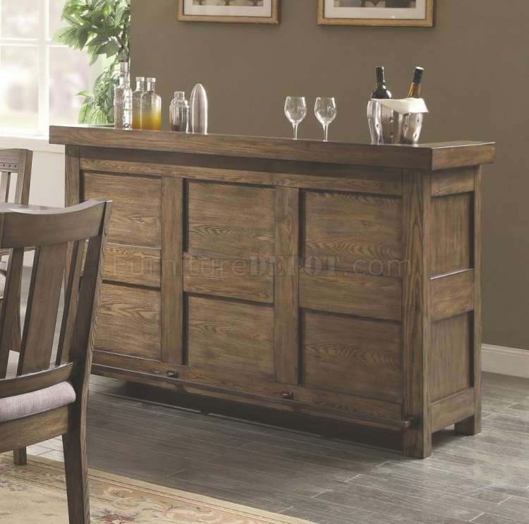 Willowbrook Bar Unit - Rustic Ash/Gunmetal