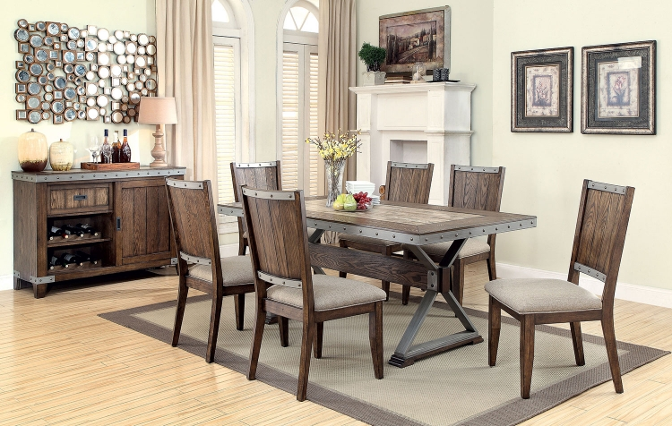 Beckett Rectangular Dining Set - Natural Mango