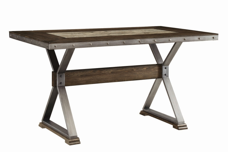 Beckett Rectangular Counter Height Dining Table - Dark Ash