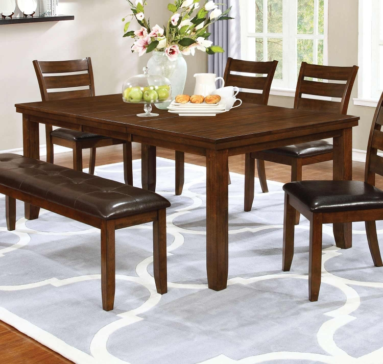 Maxwell Rectangular Dining Table - Golden Brown