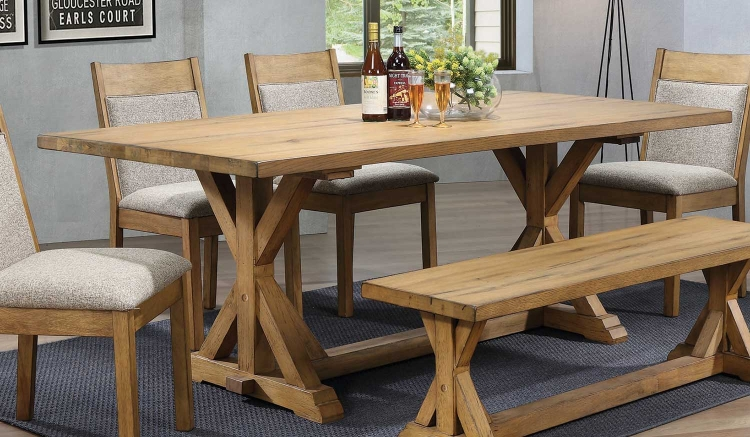 Douglas Rectangular Dining Table - Vintage White Oak