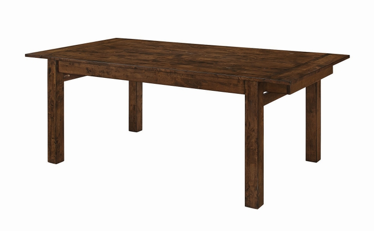 Alston Rectangular Dining Table with Leaf - Knotty Nutmeg