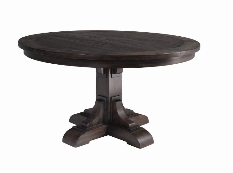 Weber Round Dining Table - Smokey Black