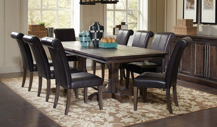 Weber Rectangular Dining Set - Smokey Black