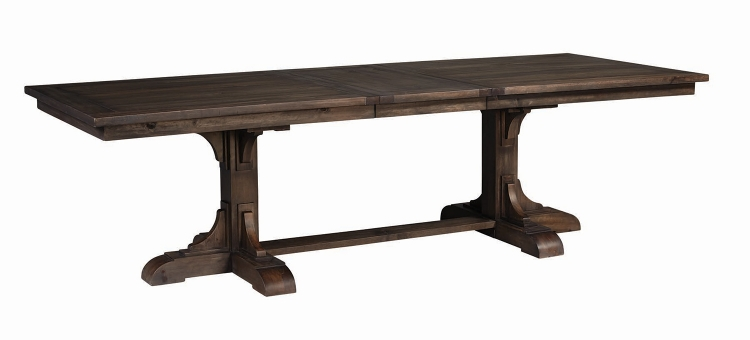 Weber Rectangular Dining Table with Leaf - Smokey Black