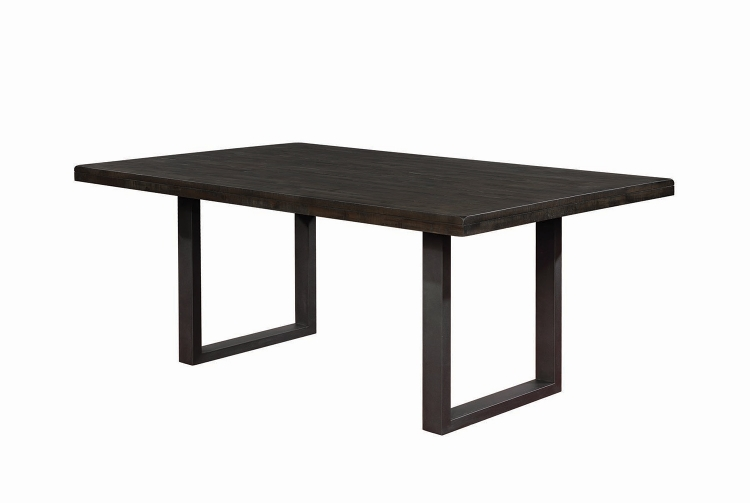 Murphy Rectangular Dining Table - Wired Brush Mineral/Black Matte Base
