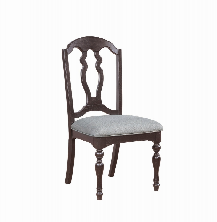 Leon Dining Side Chair - Black Licorice/Grey