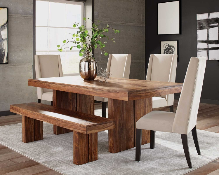 Hillsborough Dining Dining Set - Honey Sheesham