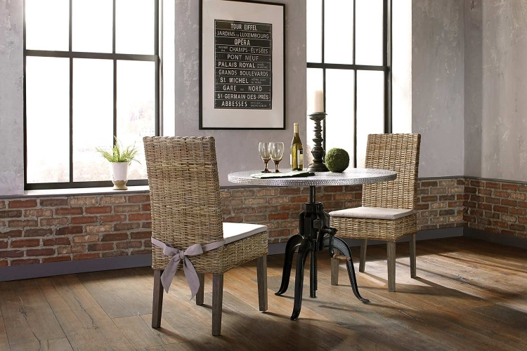 Rhea Metal Crank Dining Set - Black/Zinc
