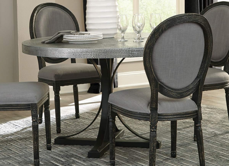 Rochelle Round Dining Table - Zinc