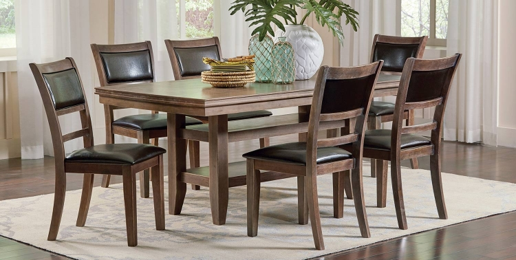 Bustamante Dining Set - Drifted Sand