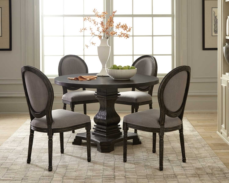 Dayton Dining Set - Antique Black/Grey
