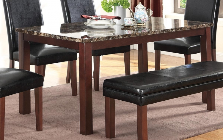 Otero Dining Table - Dark Brown/Black
