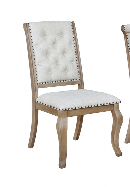 Glen Cove Side Chair - Grey Fabric/Brown