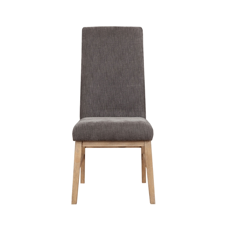 Kingston Side Chair - Drifted Acacia/Grey Fabric