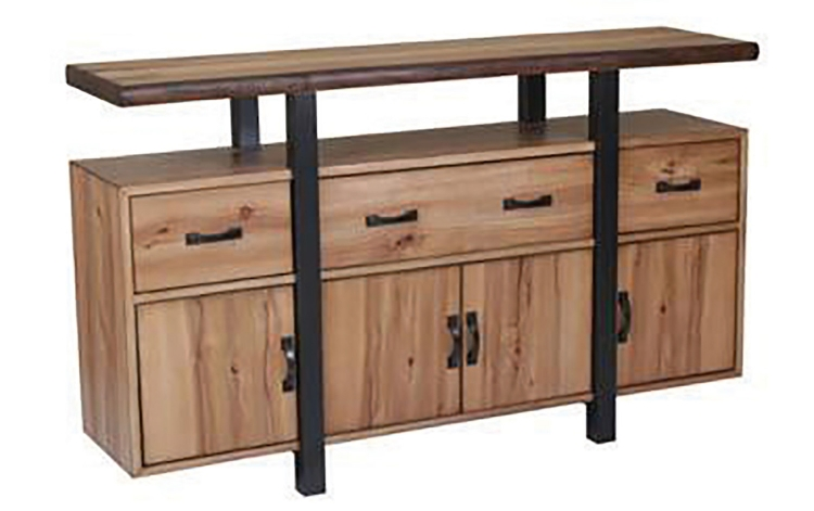 Burnham Live Edge Server - Natural Honey/Espresso