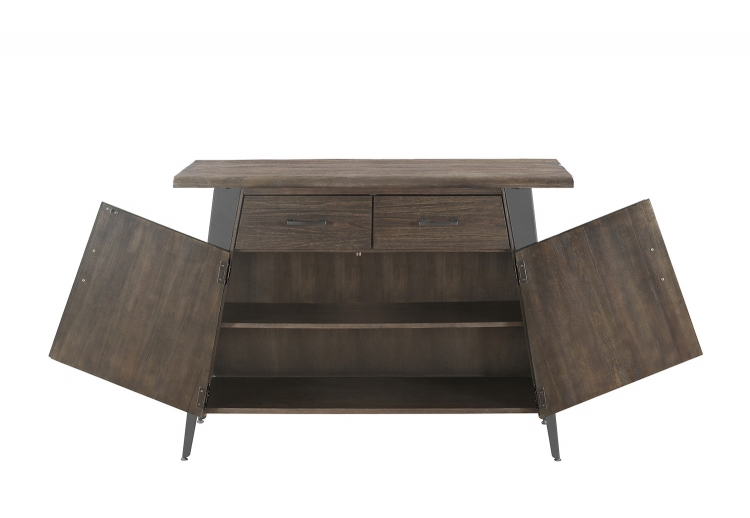 Fremont Server - Dark Rustic Brown/Gunmetal