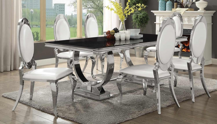Antoine Dining Set - Chrome