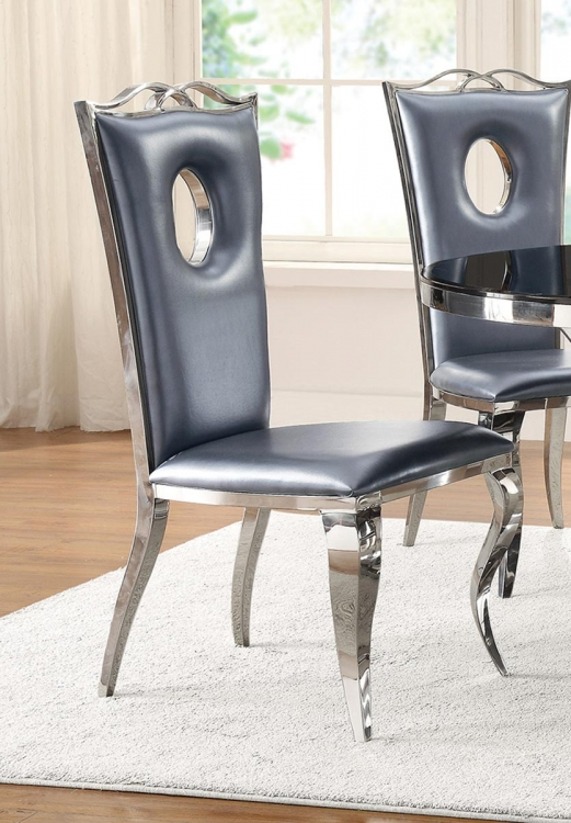 Blasio Side Chair - Metallic Grey