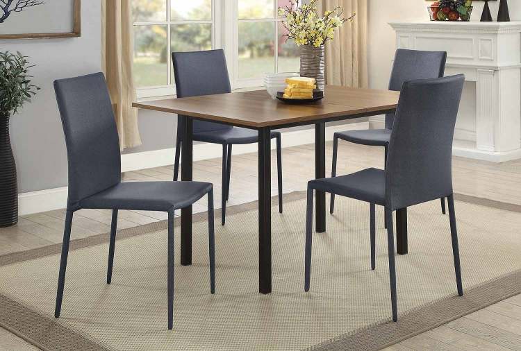 Adler Dining Set - Walnut/Black