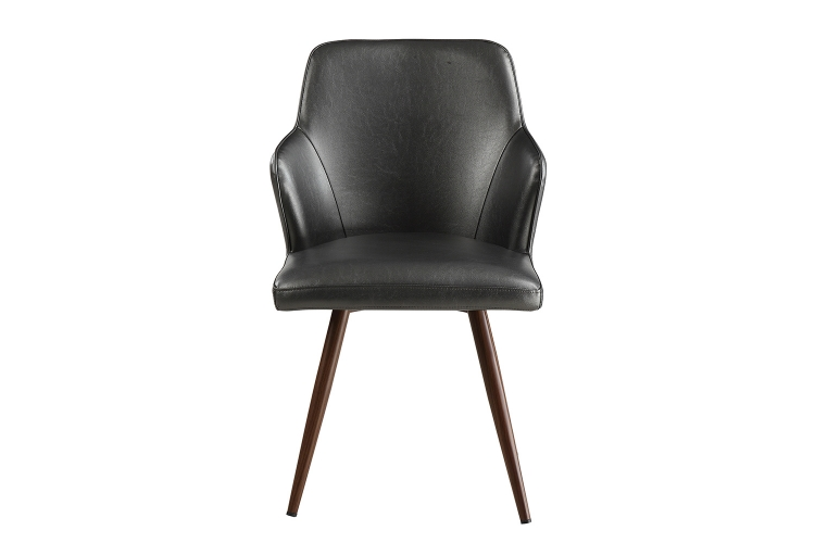 Abbott Side Chair - Walnut/Metallic Grey