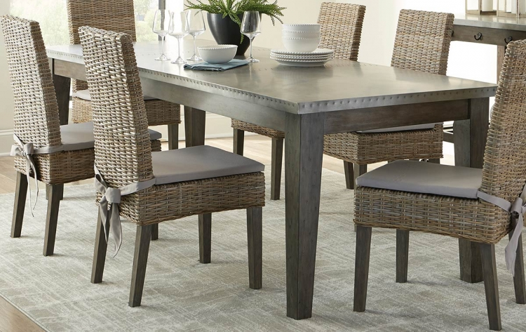 Davenport Dining Table - Gunmetal