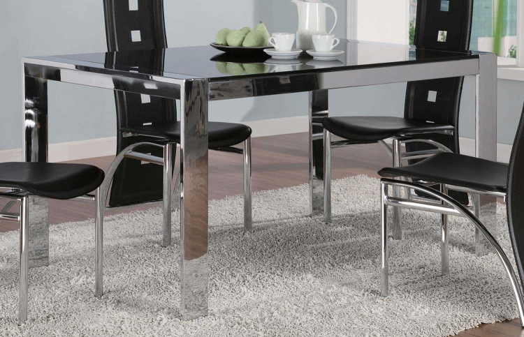 Broward Tinted Glass Top Dining Table - Coaster
