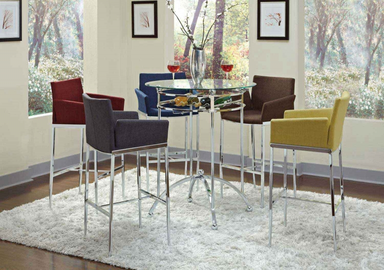 Mix & Match Glass Top Bar Dining Set - Coaster