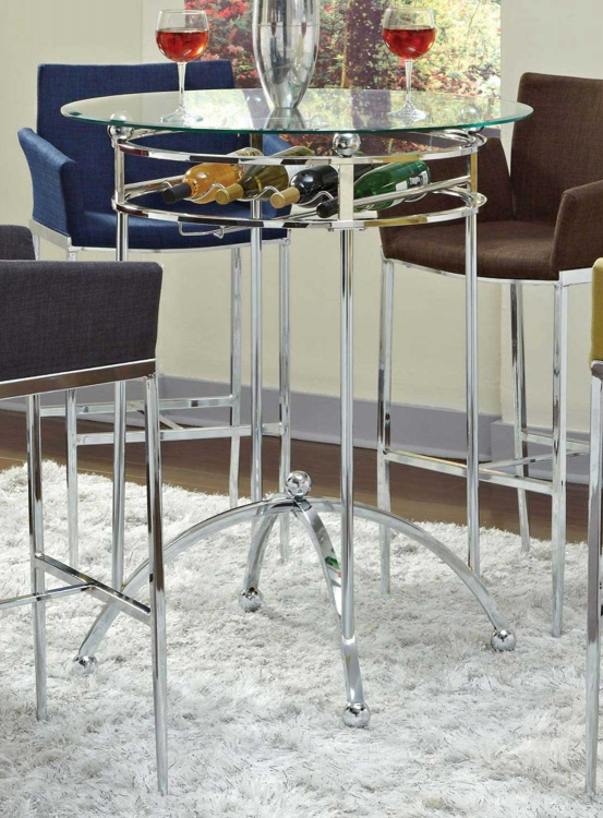 Mix & Match Glass Top Bar Table - Coaster