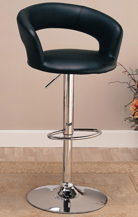 120346 29 Inch Adjustable Height Barstool - Black - Coaster