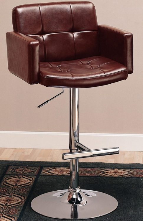120348 29 Inch Upholstered Bar Chair with Adjustable Height