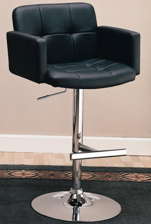 120352 29 Inch Upholstered Bar Chair with Adjustable Height