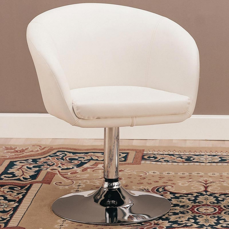 CO-120350-4 Upholstered Dining Arm Chair - White - Coaster