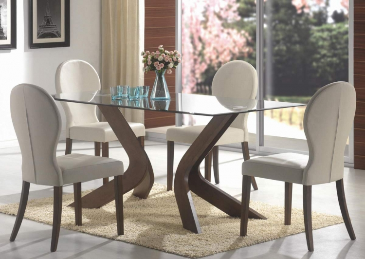 San Vicente Rectangular Glass Dining Set