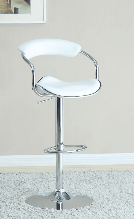 Mix & Match Adjustable Bar Stool - White - Coaster