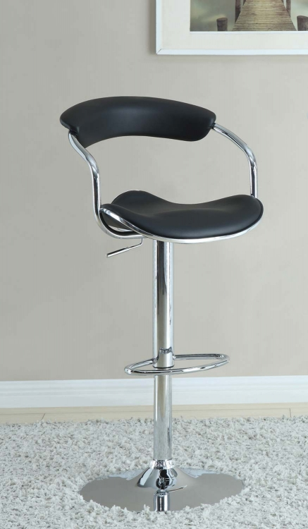 Mix & Match Adjustable Bar Stool - Black