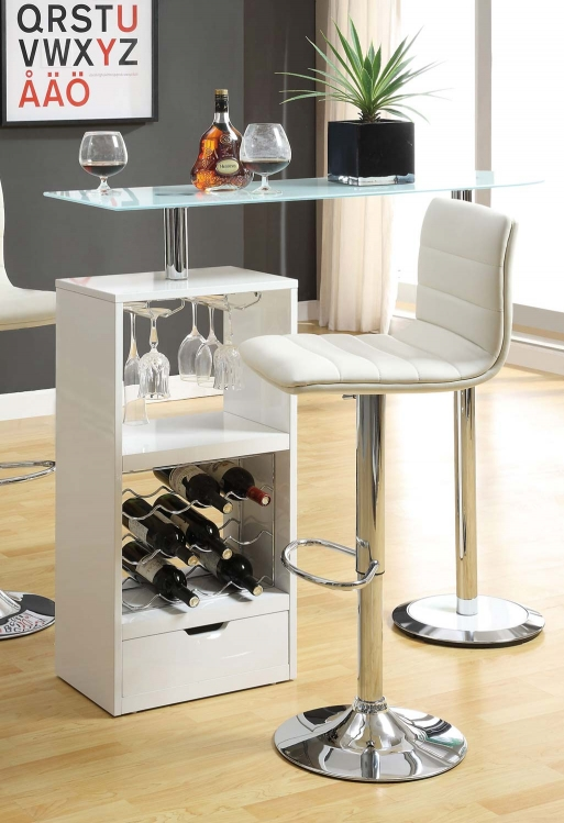 120452 Bar Table - White - Coaster