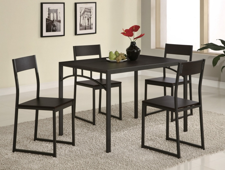 120569 5-Piece Dining Set - Cappuccino
